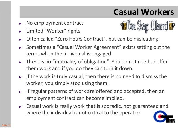 Employment contracts Are they worth the paper they are written on – Casual Employment Agreement