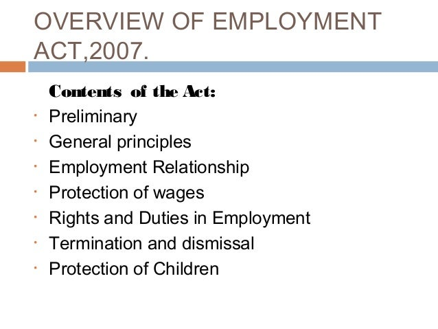 evolution of labour law in kenya As most employment law practitioners will agree, courts in kenya have for some  years  in the employment and labour relations court for wrongful termination.