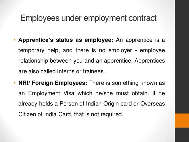 Employment agreement – Temporary Employment Contract