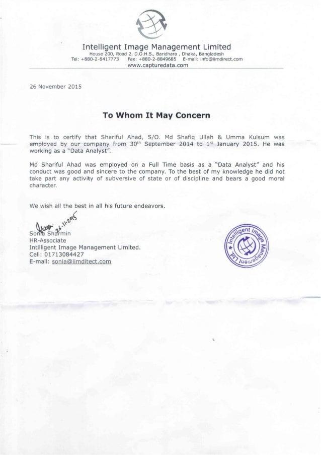 Employment Certificate Amp Salary Statement