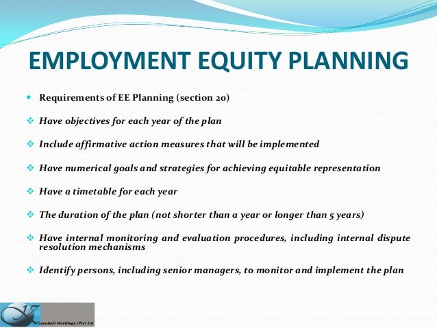 employment equity essay Fair, safe and productive workplaces labour employment equity in your workplace federal contractors program a four step guide to implementing employment.