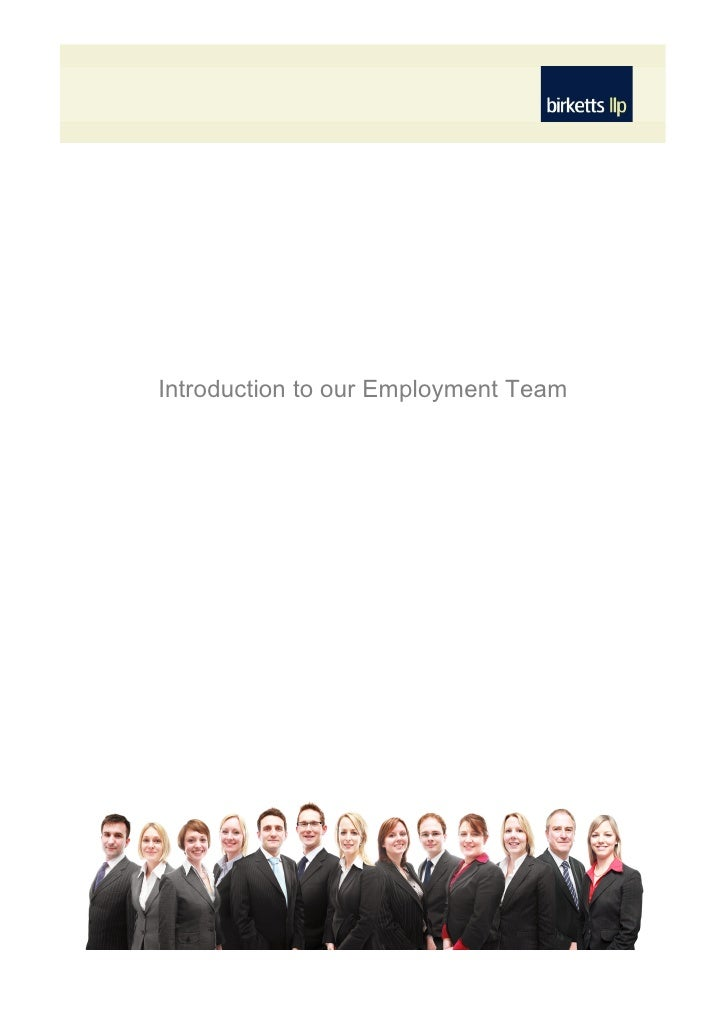 Introduction to our Employment Team