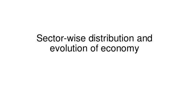 Sector-wise distribution and evolution of economy