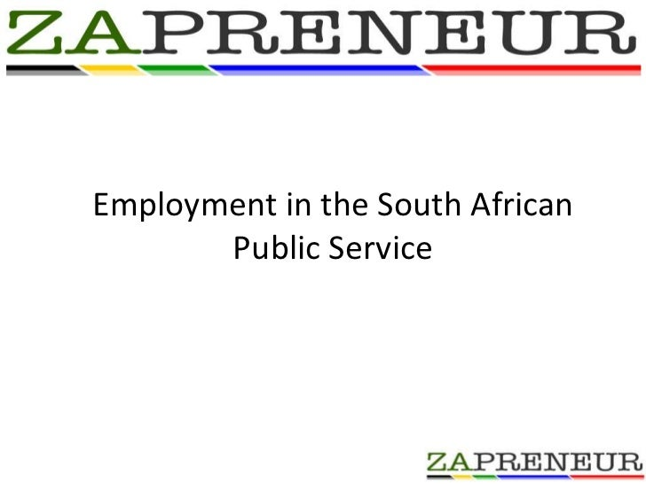 Employment in the South African  Public Service <br />