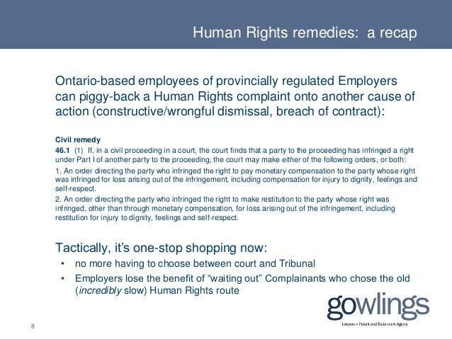 Employment  Labour Law An Update On Human Rights Remedies  Awards