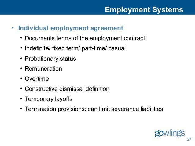 Employment  Labour Law In Canada  An Introduction From Eh To Zed