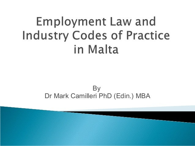 ByDr Mark Camilleri PhD (Edin.) MBA