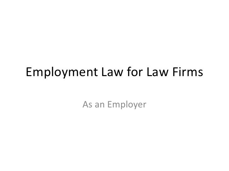Employment Law For Law Firms
