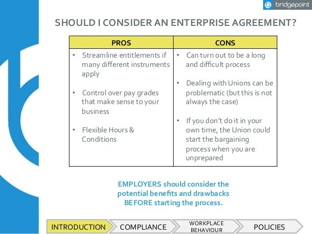 Employment law for smes workplace behaviour policies 3 should i consider an enterprise agreement platinumwayz