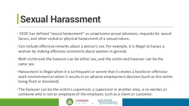 Define sexual harassment state of michigan