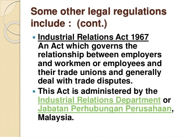 industrial relations act 1967 Restriction of section 48 of industrial relations act, 1946, and on certain agreements and orders under that act part iv industrial training act, 1967.