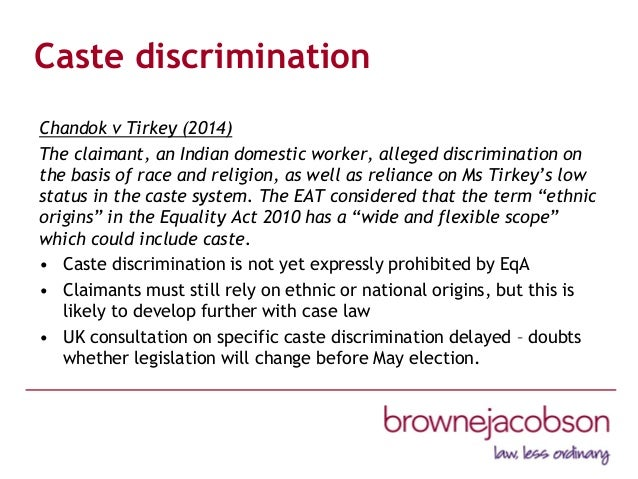 ethnicity discrimination in the workplace Our work backgrounders and research examples of racial discrimination (fact sheet) page controls + show tags ethnicity, ancestry, religion.