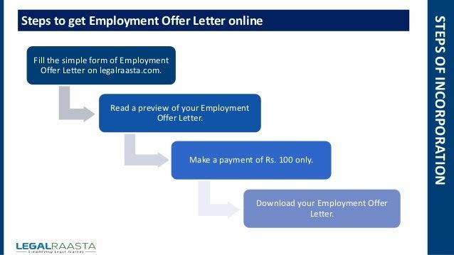 employment offer letter online 100 5