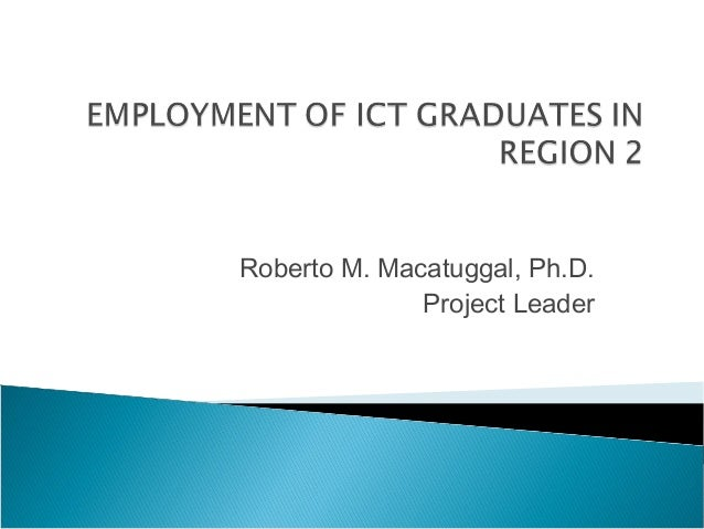 Roberto M. Macatuggal, Ph.D.              Project Leader