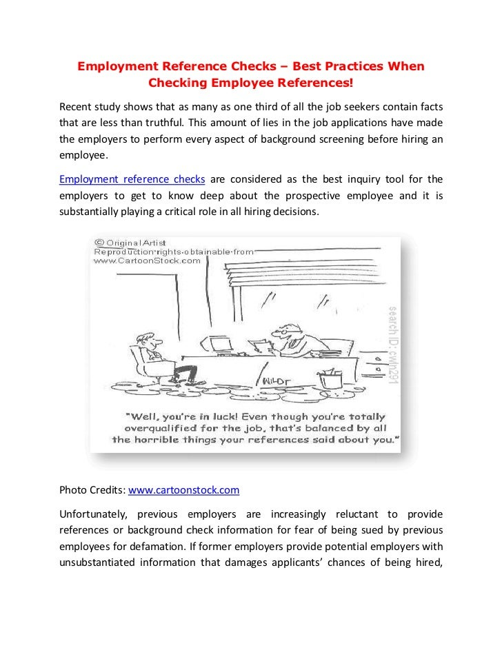 emplyment reference