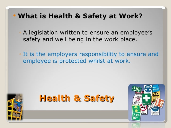 contribute to health and safety policies and procedure of the work setting What other policies contribute to health and safety practice health and safety covers the broad territory of creating a safe environment for young people, volunteers and workers to ensure that all aspects of health and safety are covered in the induction process youth groups may use a health and safety checklist.