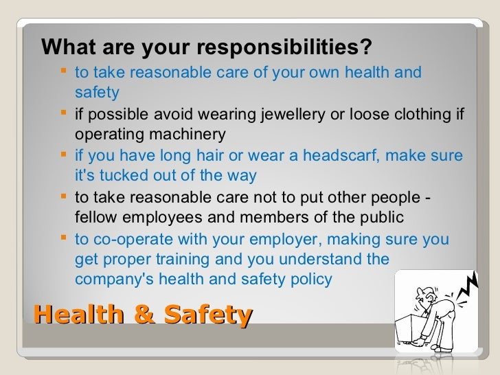 employment responsibilities and right in health Employees shall have the following rights and responsibilities:  or which is  likely to threaten public health or safety or which involves the unlawful  appropriation.