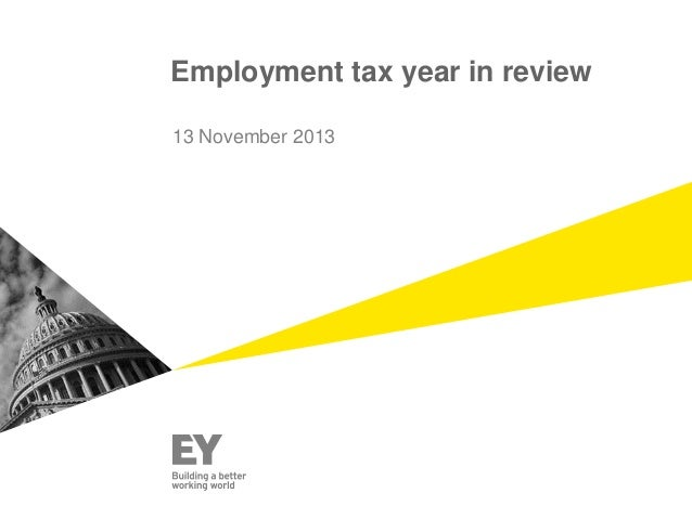 Employment tax year in review 13 November 2013