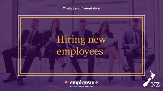 Employsure workplace presentation hiring new employees spiritdancerdesigns Images