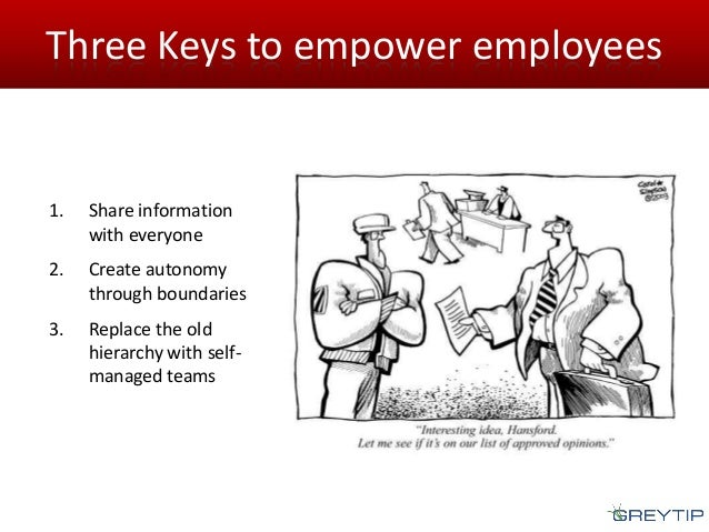 how to empower employees Learn how to create real communication, to involve your employees and achieve top talent retention.