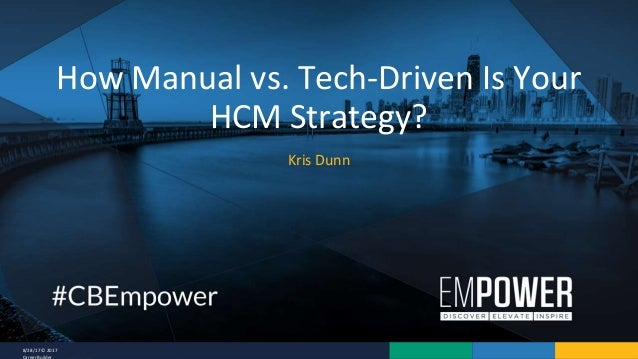 8/28/17 © 2017 CareerBuilder Kris Dunn How Manual vs. Tech-Driven Is Your HCM Strategy?