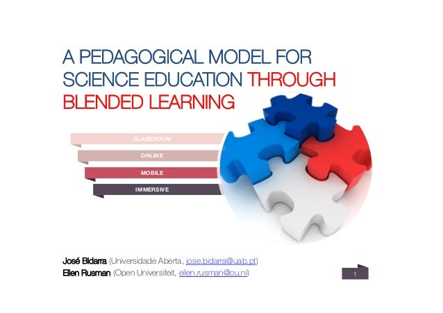 A PEDAGOGICAL MODEL FOR SCIENCE EDUCATION THROUGH BLENDED LEARNING 1 José Bidarra (Universidade Aberta, jose.bidarra@uab.p...