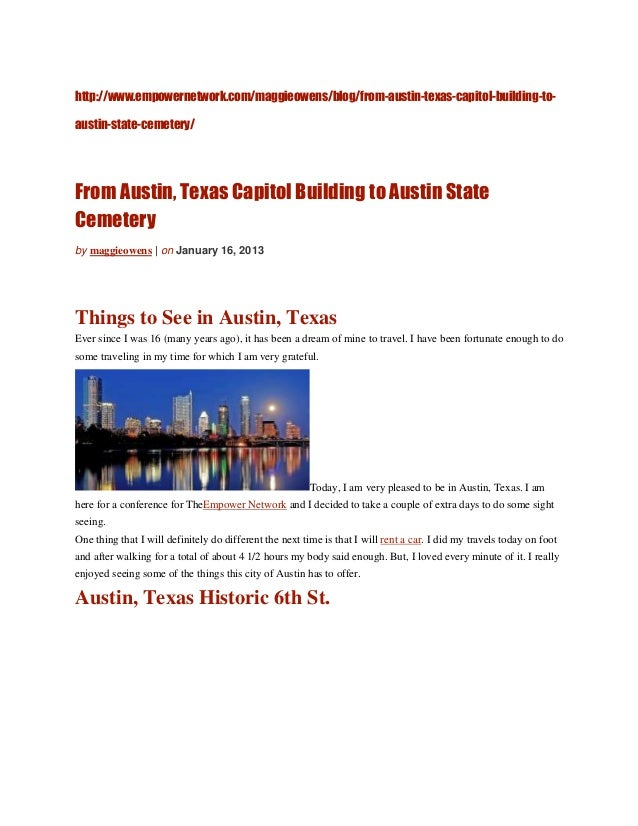 http://www.empowernetwork.com/maggieowens/blog/from-austin-texas-capitol-building-to-austin-state-cemetery/From Austin, Te...