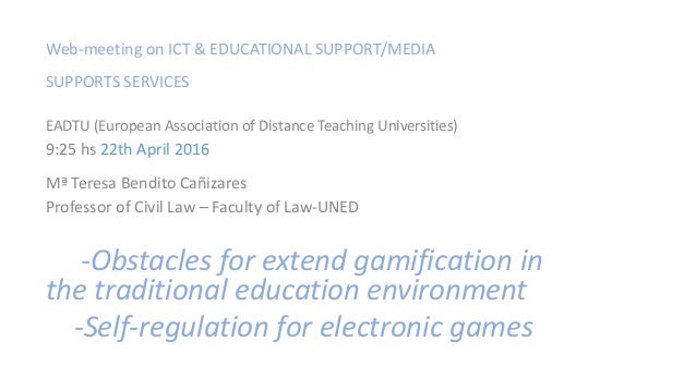 Web-meeting on ICT & EDUCATIONAL SUPPORT/MEDIA SUPPORTS SERVICES EADTU (European Association of Distance Teaching Universi...