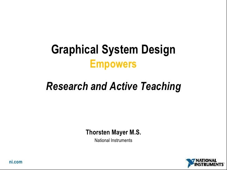 Empowering active teaching and experimental research apr 2010
