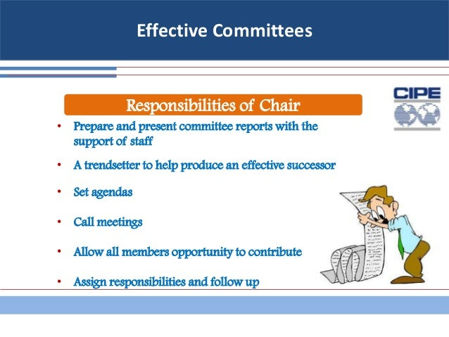 assigning obligations by way of committee