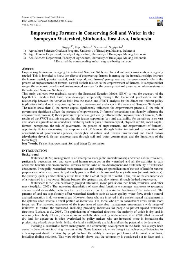 Journal of Environment and Earth Science www.iiste.org ISSN 2224-3216 (Paper) ISSN 2225-0948 (Online) Vol. 3, No.7, 2013 2...