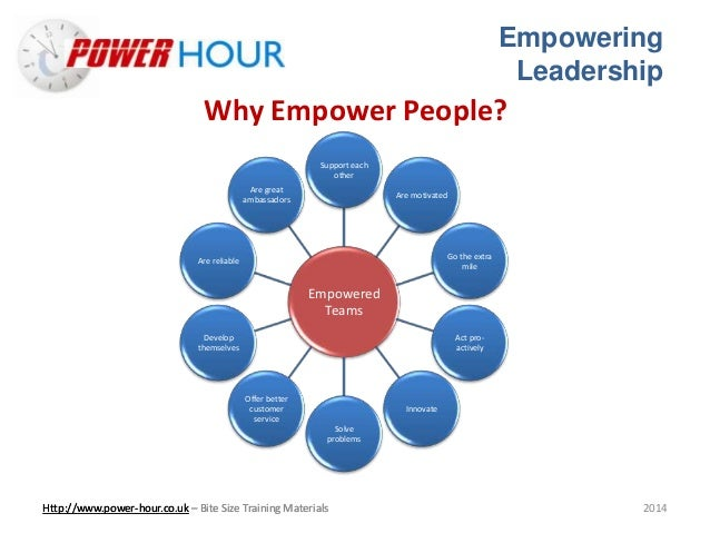 empowerment leadership style The relationship between leadership styles and staff perceptions of their empowerment is important for nursing mangers and leaders, in order to create a work environment that encourages and facilitate a high level of commitment among the nursing staff.