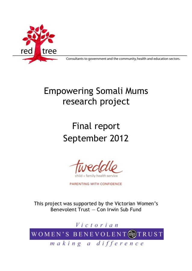 Empowering Somali Mums       research project              Final report            September 2012This project was supporte...