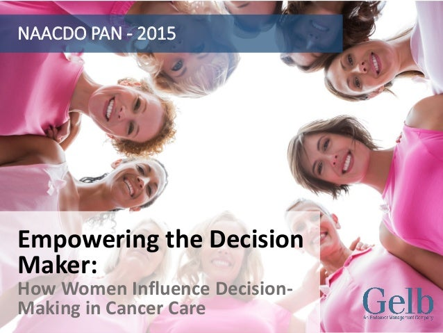 Empowering the Decision Maker: How Women Influence Decision- Making in Cancer Care NAACDO PAN - 2015