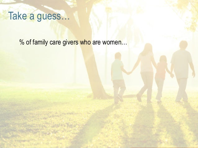 PAGE 17 Of family care givers are women Women as Family Decision Makers & Influencers Female caregivers who are family mem...