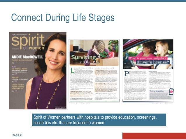 PAGE 32 Become a Trusted Online Resource MyLifeStages by Sutter Health is an award-winning health program that pulls toget...