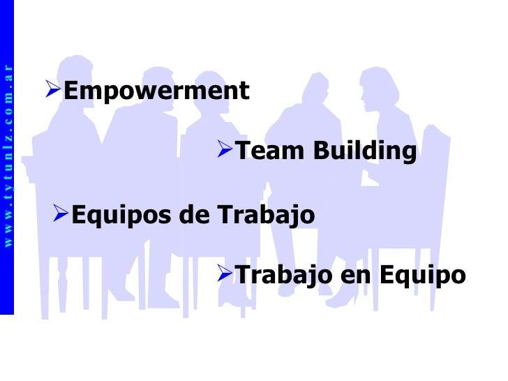 w w w . t y t u n l z . c o m . a r <ul><li>Empowerment </li></ul><ul><li>Team Building </li></ul><ul><li>Trabajo en Equip...