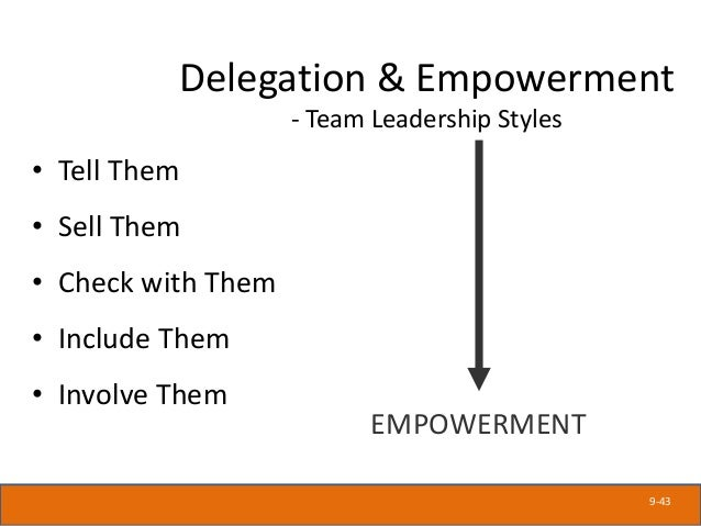 Empowerment means enabling front line employees