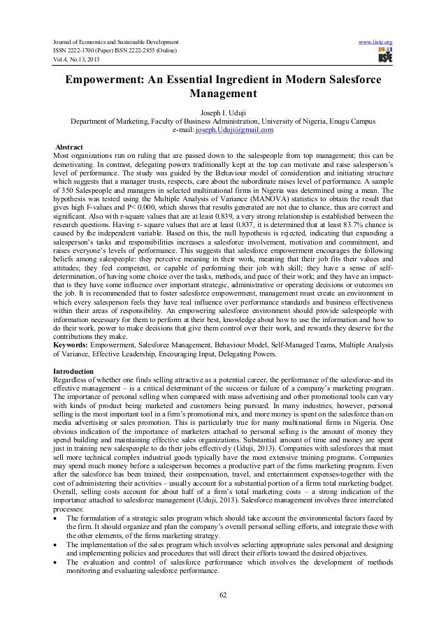 Journal of Economics and Sustainable Development www.iiste.org ISSN 2222-1700 (Paper) ISSN 2222-2855 (Online) Vol.4, No.13...