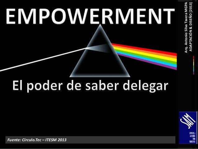 Fuente: Círculo.Tec – ITESM 2013 Arq. Antonio Silva Tavera MGPA ADAPTACIÓN & DISEÑO [2013]