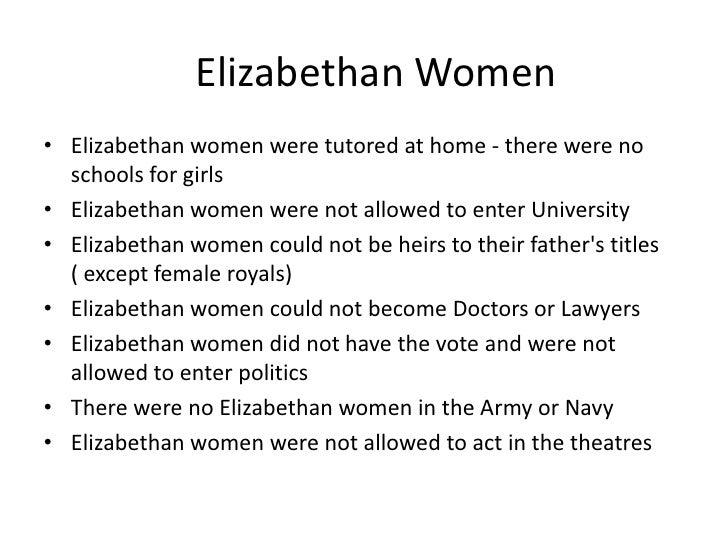 the role of women in elizabethan england