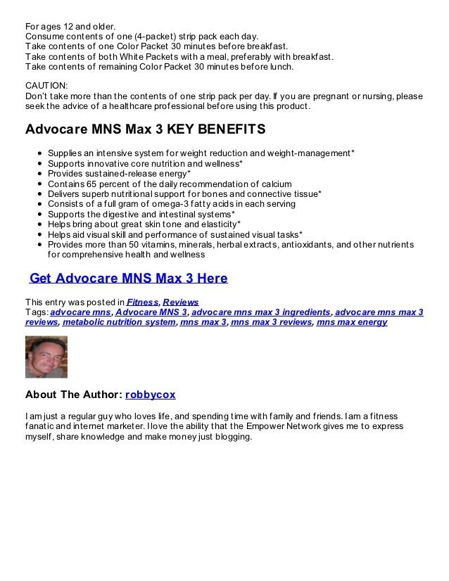 AdvoCare MNS 3 Review: Promising Ingredients, Painful Price