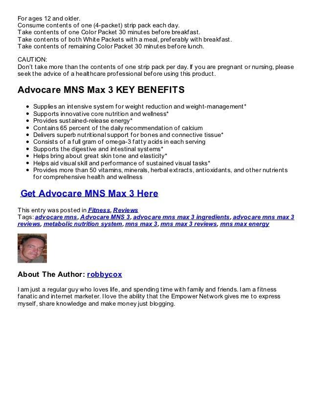 Advocare MNS 3