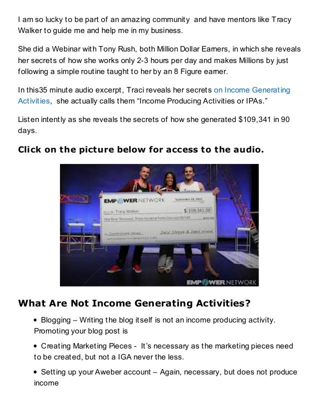 income generating activities business plan