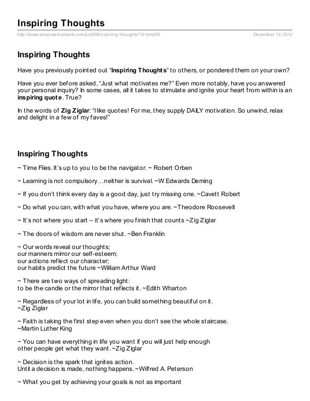 Inspiring Thoughtshttp://www.empowernetwork.com/jim208/inspiring- thoughts?id=jim208                      December 12, 201...