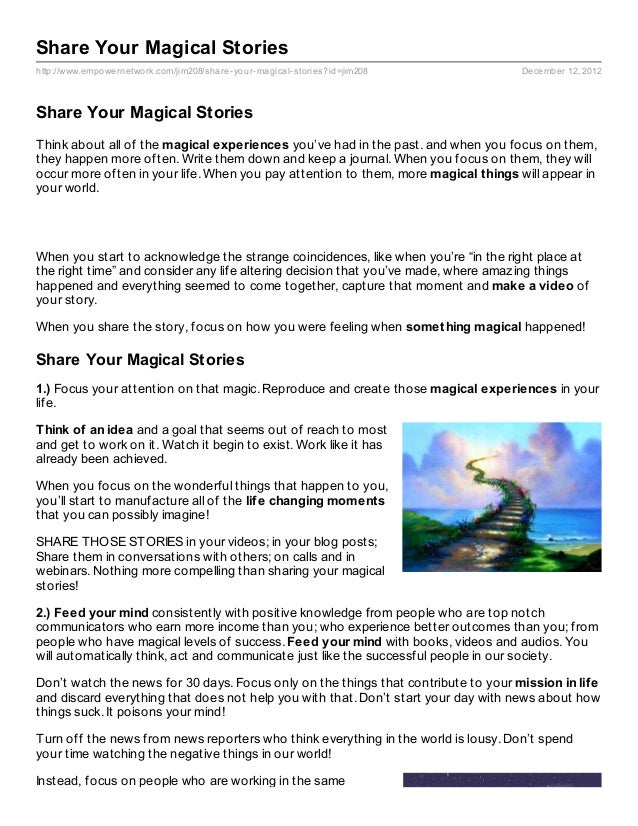 Share Your Magical Storieshttp://www.empowernetwork.com/jim208/share- your- magical- stories?id=jim208         December 12...