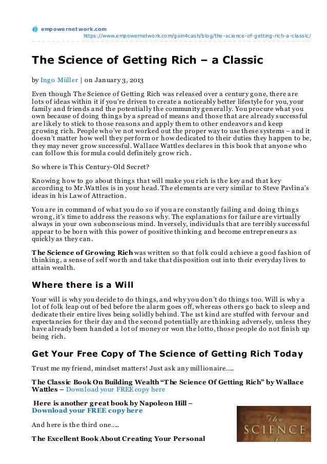 empowernet work.com               https://www.empowernetwork.com/goin4cash/blog/the-science-of-getting-rich-a-classic/The ...