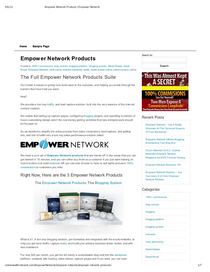 9/6/12                          Empower Network Products | Empower Network           Home      Sample Page                ...