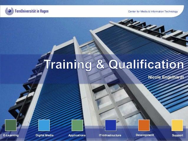 Center for Media & Information Technology ApplicationsE-Learning DevelopmentIT-InfrastructureDigital Media Support Nicole ...