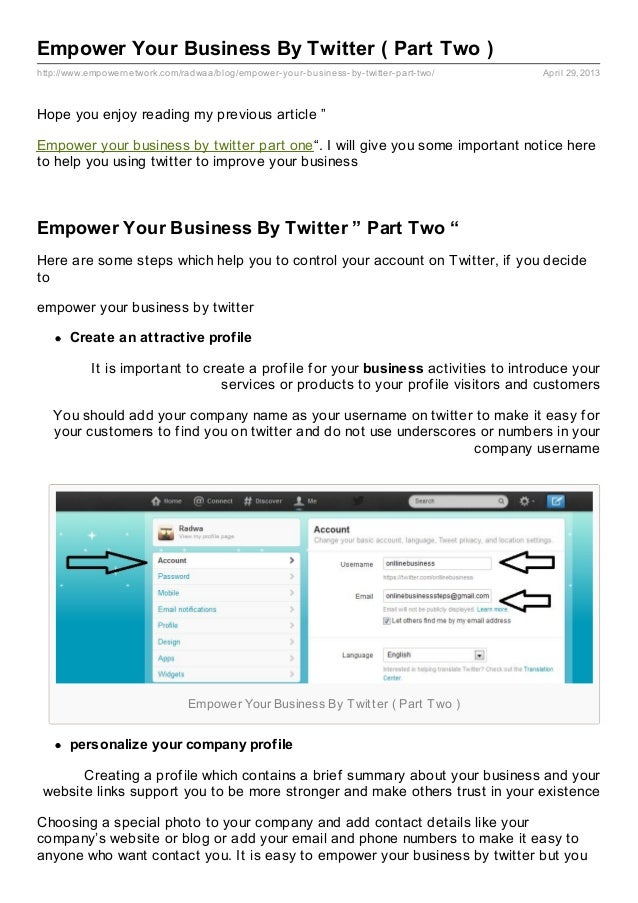 Empower Your Business By Twitter ( Part Two )http://www.empowernetwork.com/radwaa/blog/empower-your-business-by-twitter-pa...
